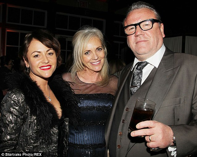 My girls: The Winstone's looked like a happy family as they posed together at the Noah after party, minus daughters Lois and Ellie Rae