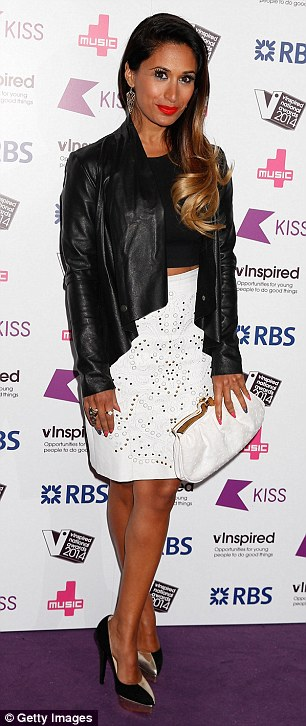 Night on the town: Former EastEnders actress Preeya Kalidas arrives on Thursday evening