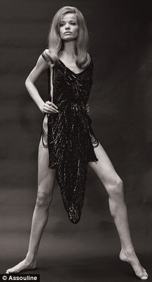 """Striking: The 6ft 3"""" beauty became one of the most iconic models of the 1960s"""