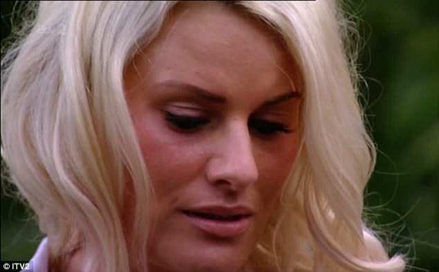 Upset: Danielle mulls over what she has just heard