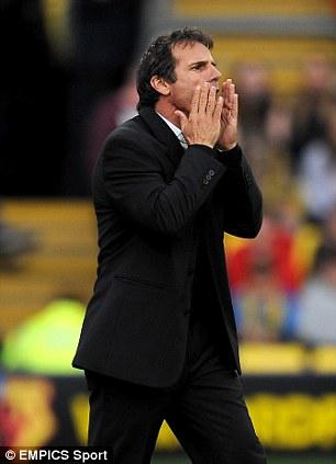 Available: Gianfranco Zola left Watford earlier in the season
