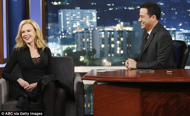 Talking about family: Nicole twice referred to Sunday Rose as her oldest daughter on Jimmy Kimmel Live - despite having a 21-year-old daughter from her marriage with Tom Cruise