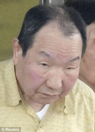 This photograph shows Iwao Hakamada, 78, leaving prison today after nearly 50 years on death row