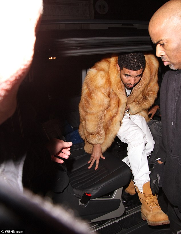 Take Care: Around 100 people are thought to have gathered outside to catch a glimpse of the star after his performance at The O2 Arena