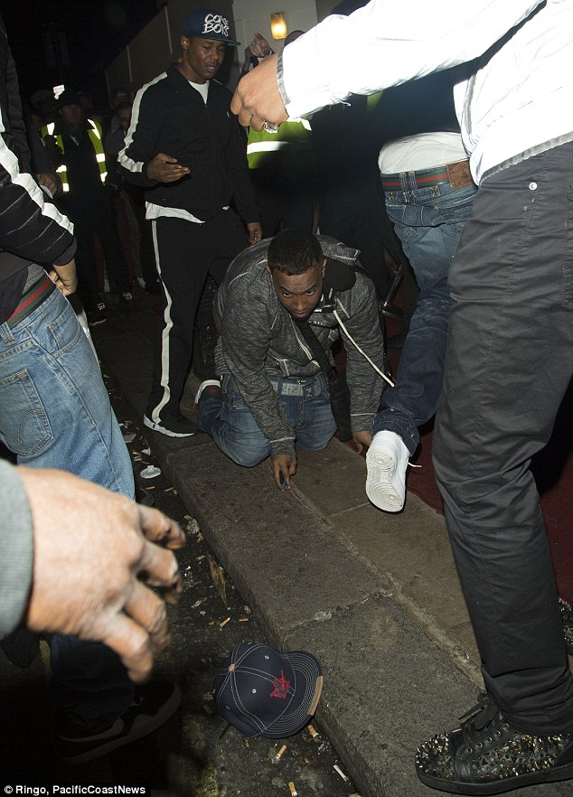 No arrests made: A number of people were pictured on the floor as people rushed to see him after the bash, which was also attended by Will.i.am