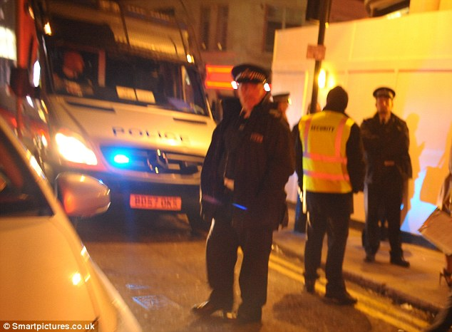 Assistance: A Metropolitan Police Spokesman confirmed to the MailOnline that police had been called to reports of a 'fight and crowd disturbance' between eight to 10 people at 2:23am
