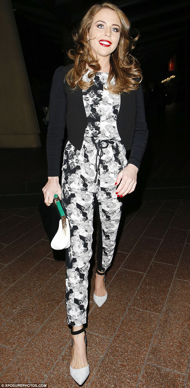 Big fan: Lydia Rose Bright was seen arriving at the rappers concert earlier in the evening