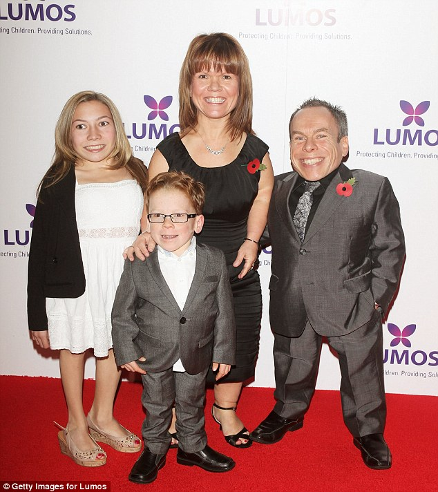 Warwick with his family who all regularly make appearances on the red carpet