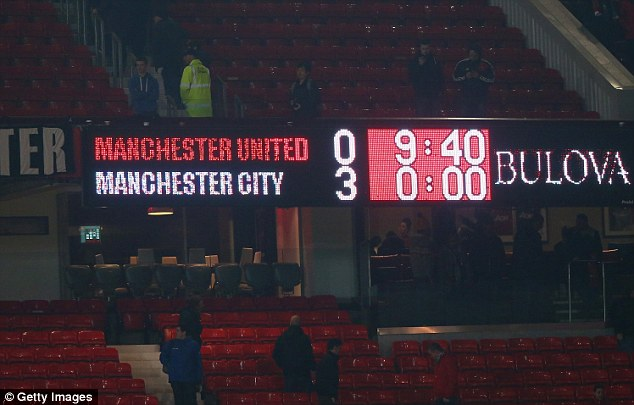Humiliated: The scoreline at Old Trafford made for grim reading