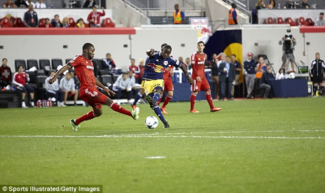 Famous dad: Former Arsenal striker Ian Wright's son Bradley Wright-Phillips plays for the Red Bulls