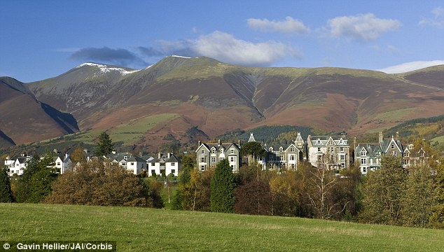 Lakeside charm: Keswick, in Cumbria, also made it into the top three with Southey Street