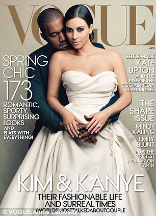 Ms Kaling stars in Vogue's new Shape issue which features Kim Kardashian and Kanye West on the cover