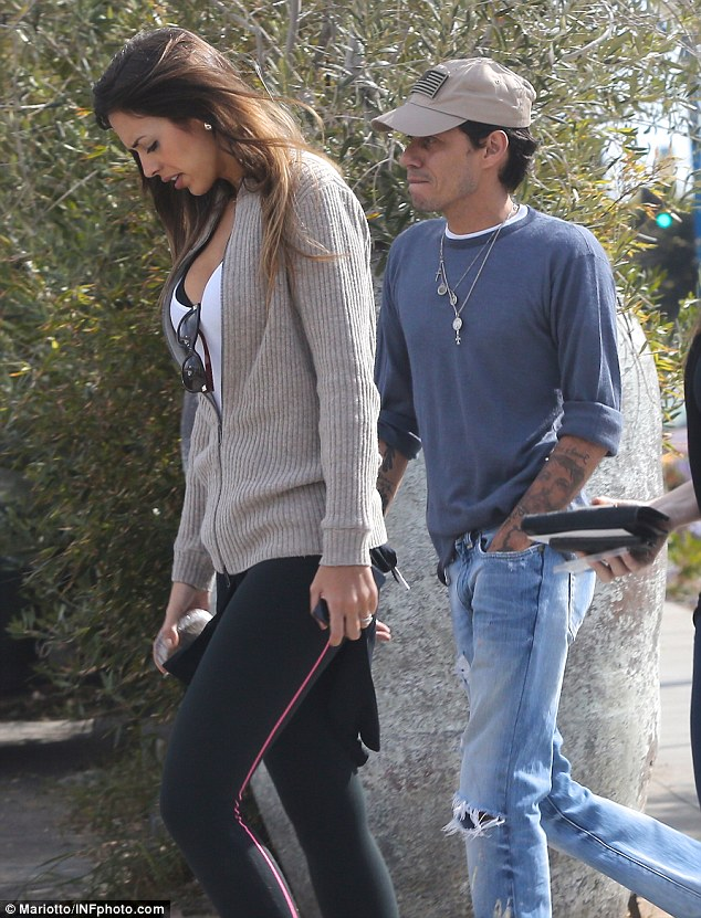 Romance back on: Marc Anthony has returned to his former girlfriend Shannon De Lima, who accompanied the singer on a stroll in LA on Wednesday, and marriage might not be far off either