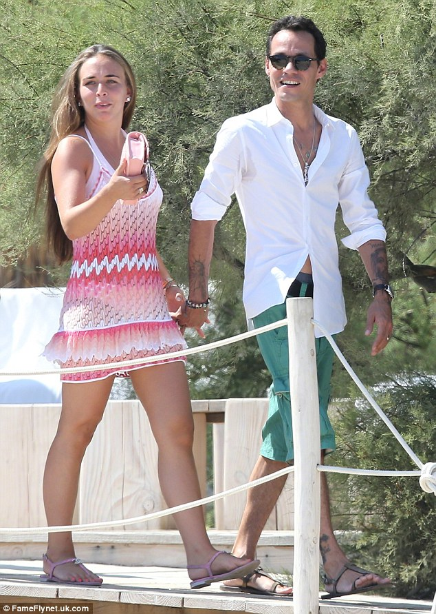 Breaking point: Marc and Topshop heiress Chloe Green, pictured in July 2013, broke up in late January over their divergent schedules