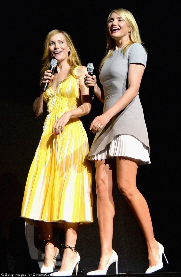 White hot: Obviously white pumps are the shoes to buy this season as both actresses wore pointed two heels