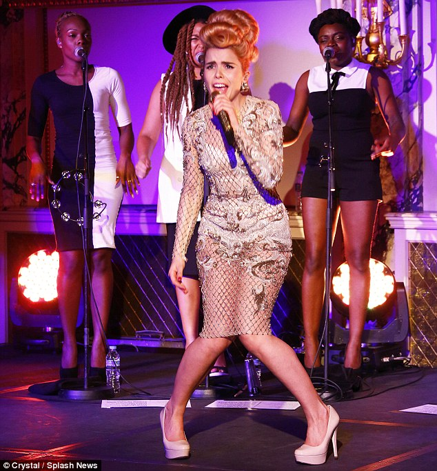 Quirky: Paloma pulled some interesting moves during her performance
