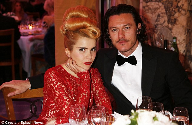 Chinwag: Paloma chatted to actor Luke Evans over dinner