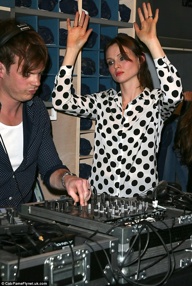 Dropping beats: Richard Jones and Sophie Ellis-Bextor entertained the crowd with a killer DJ set
