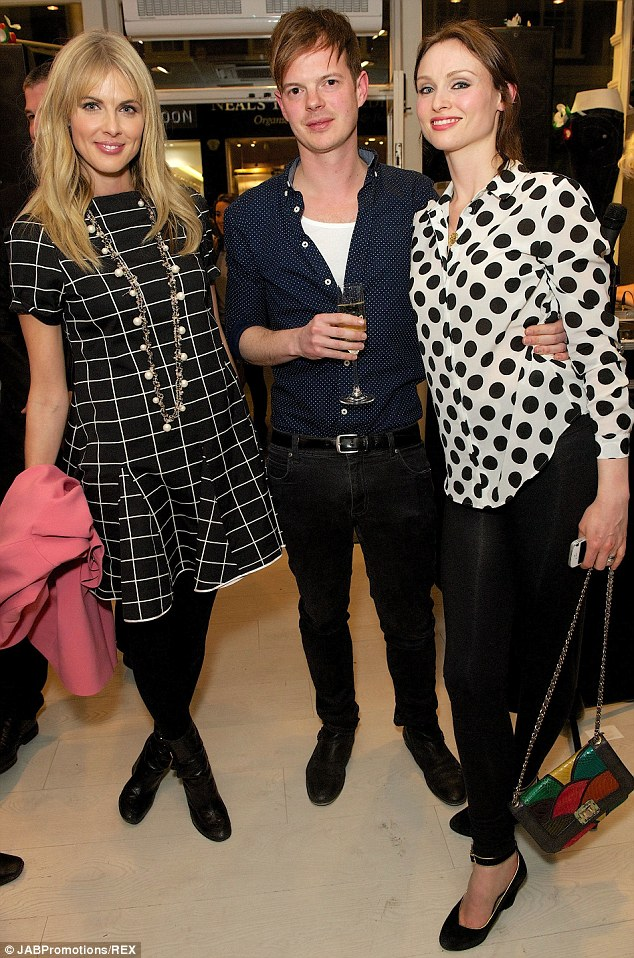 British babes: TV presenter Donna Air, The Feeling bassist Richard Jones and singer Sophie Ellis-Bextor posed for the photographers