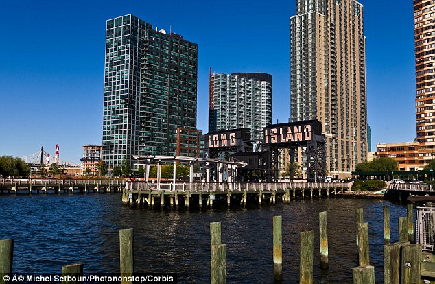 High-rise: Real estate in Long Island City has skyrocketed in recent years due to luxury high-rises and its close proximity to midtown Manhattan