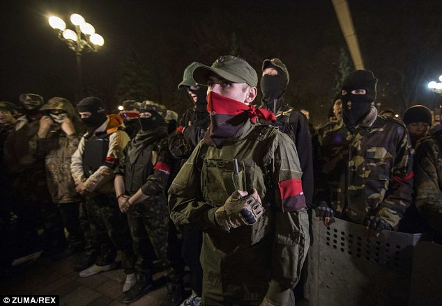 Growing dissent: Right Sector's membership has been growing and has been estimated to be between 5,000 and 10,000