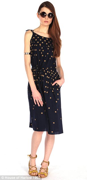 Caftan call: The collection also includes bohemian summer dress options, like an embroidered caftan and gold-speckled slip dress