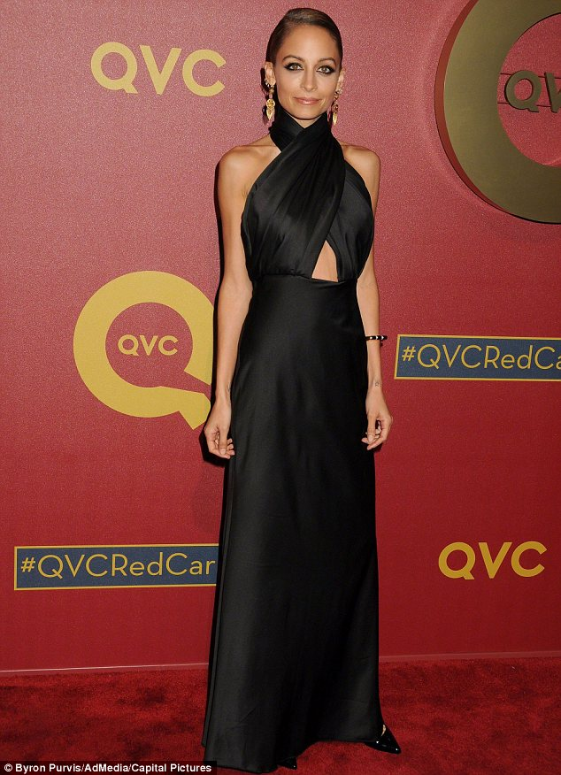 In her designs: Nicole Richie wears House of Harlow jewelry on the red carpet the QVC Red Carpet Style Awards in February