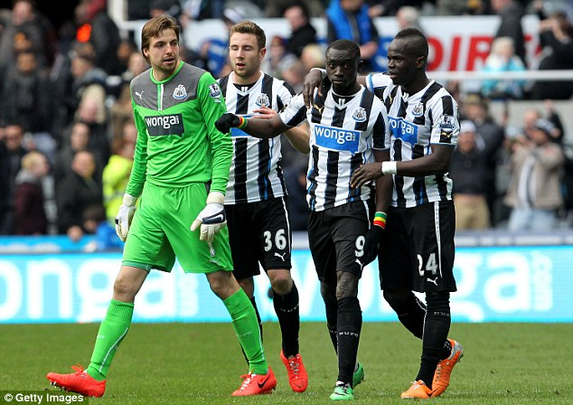 Krul blow: Newcastle will be without their No 1 goalkeeper for up to three games