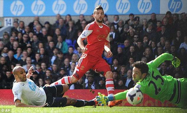 Striker short: Jay Rodriguez could miss out through injury after scoring at Tottenham in a 3-2 defeat last weekend