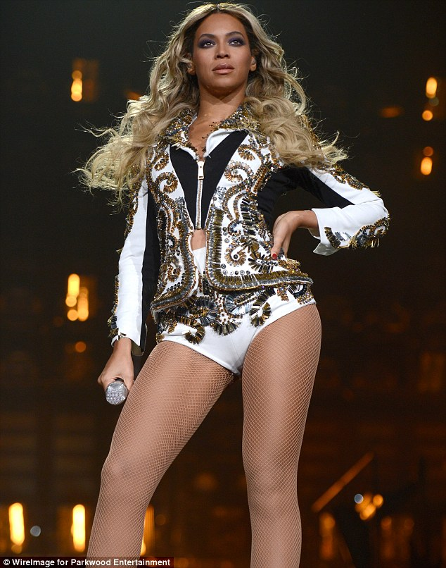 Un-Bey-lievable figure: The saucy singer is looking back to her best after giving birth to daughter Blue in 2012