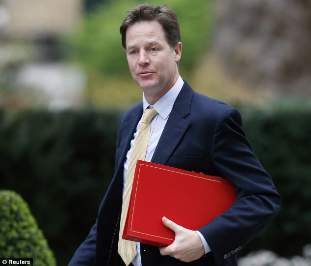 Celebration: Deputy Prime Minister Nick Clegg said there will be a rainbow flag flown from the Cabinet Office