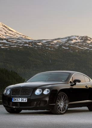 The asking price for the Mudeford beach hut is £150,000, the same as this Bentley Continental
