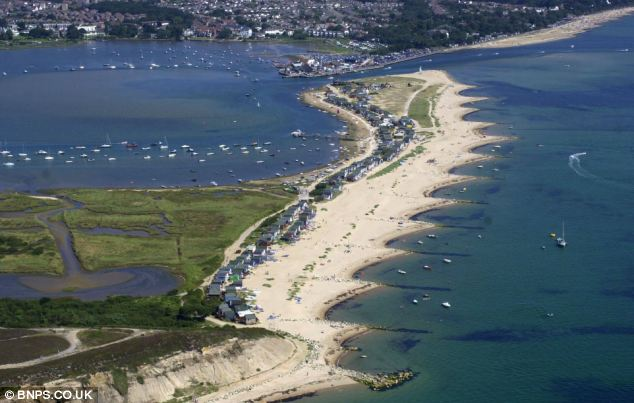 Mudeford Spit where the beach is located, is only accessible by taking a boat from Christchurch Quay or a land train from a nearby car park