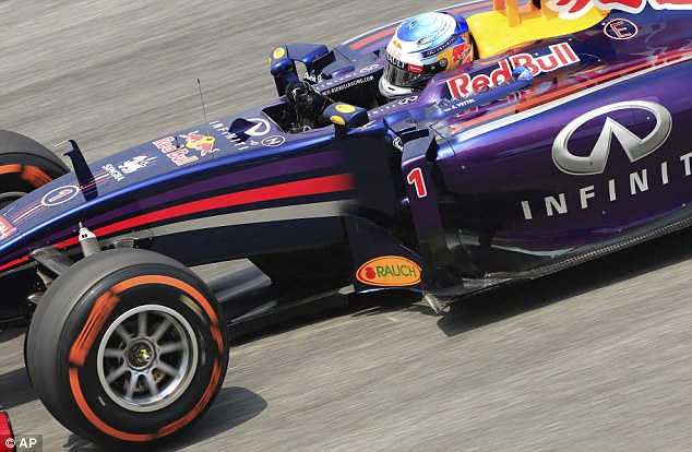 Steady: Red Bull's Sebastian Vettel was third in the timesheets on Friday