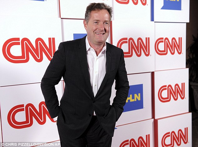 Ousted: CNN announced Morgan's departure last month, bringing to a close his show's three-year run marked by lackluster ratings