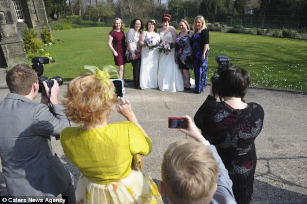 They joined couples around Britain jumping at the chance to marry on the first day of legalised gay marriage