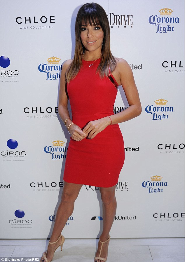 Feeling it: Eva Longoria was one of the first to respond, pictured in Los Angeles earlier this month
