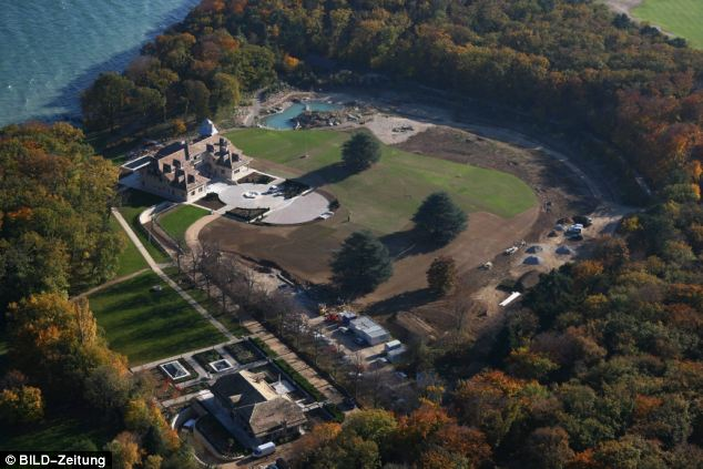 Successful: The £25million estate on the shores of Lake Geneva where the Schumacher family live
