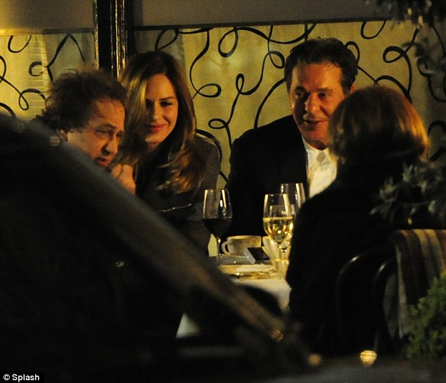 Makes a change: Trinny and Chales Saatchi spend many evenings together at Scott's of Mayfair