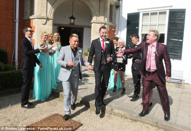 The wedding was picketed by anti same-sex marriages but they ignored the protests and celebrated in the sun