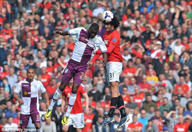 Christian aid: Aston Villa striker Benteke  (L) missed three excellent chances to score