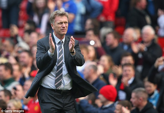 Support act: David Moyes has thanked Manchester United fans for backing him at Old Trafford