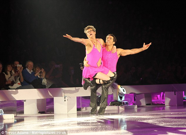 Ever the professional: The 52-year-old and Andy Buchanan performed an impressive routine much to the delight of the audience who cheered along with glee