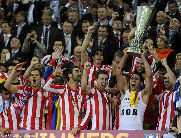 Success: Simeone has delivered two trophies in his short tenure in Madrid - the Europa League and the Copa del Rey