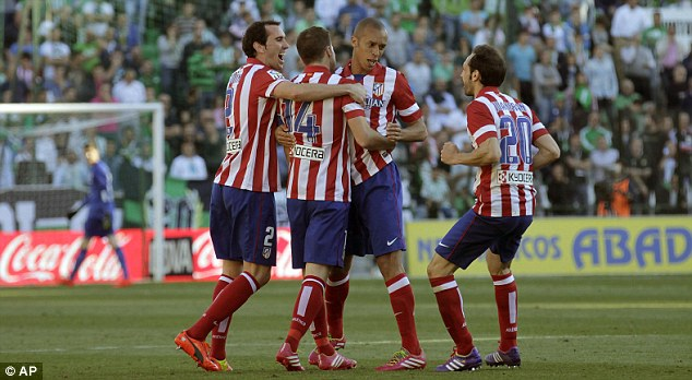 On the up: Simeone has Atletico battling with the elite - both in Spain and in Europe