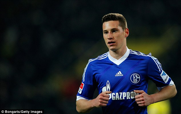 High price: Arsenal are keen on Schalke's Julian Draxler but do not want to pay his £36million buy-out clause