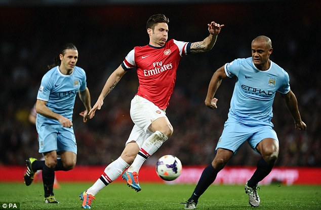 Reinforcements needed: French striker Olivier Giroud is Arsenal's only recognised centre forward