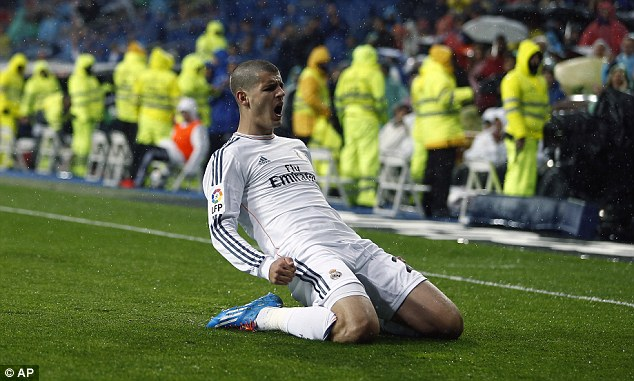 Interest: Real Madrid frontman Alvaro Morata is likely to join Arsenal if the club's can agree a fee