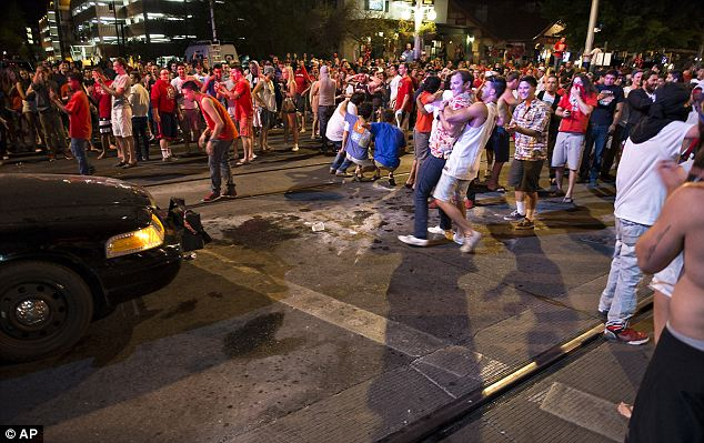 Loss: Students clashed against Tucson Police officers on University Avenue Saturday