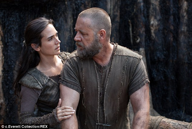 Top spot: Noah,starring Russell Crowe, takes the box office lead this weekend with $44 million in sales